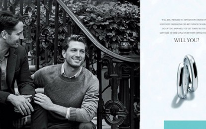 Tiffany & Co. Features Real-Life Same Sex Couple